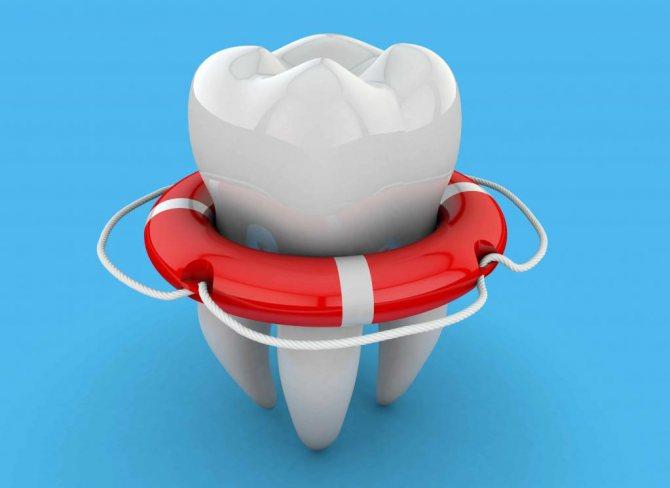 Зуб в рятувальному колі
